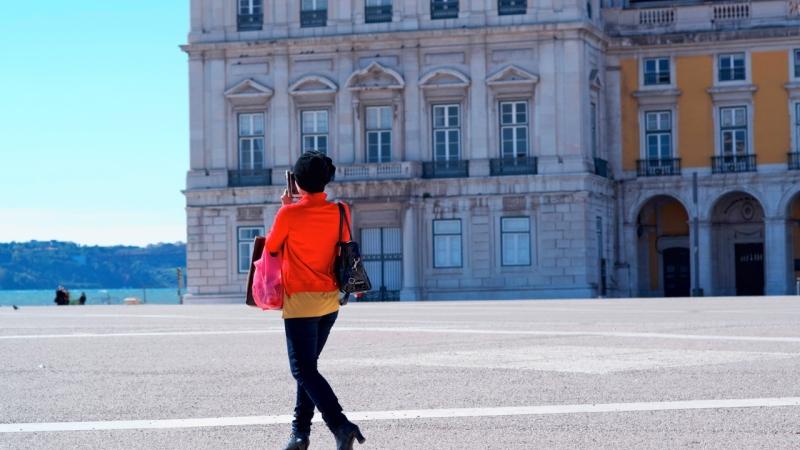 Lissabon via mobil